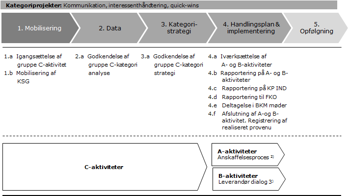 Governance-model for Kategoriprogram har til