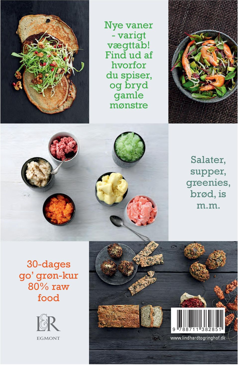 Salater, supper, greenies, brød, is m.