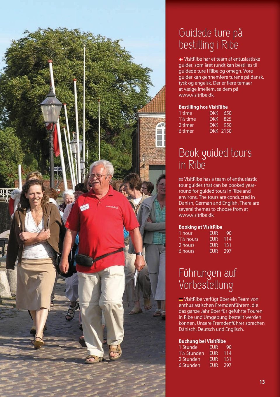 Book guided tours in