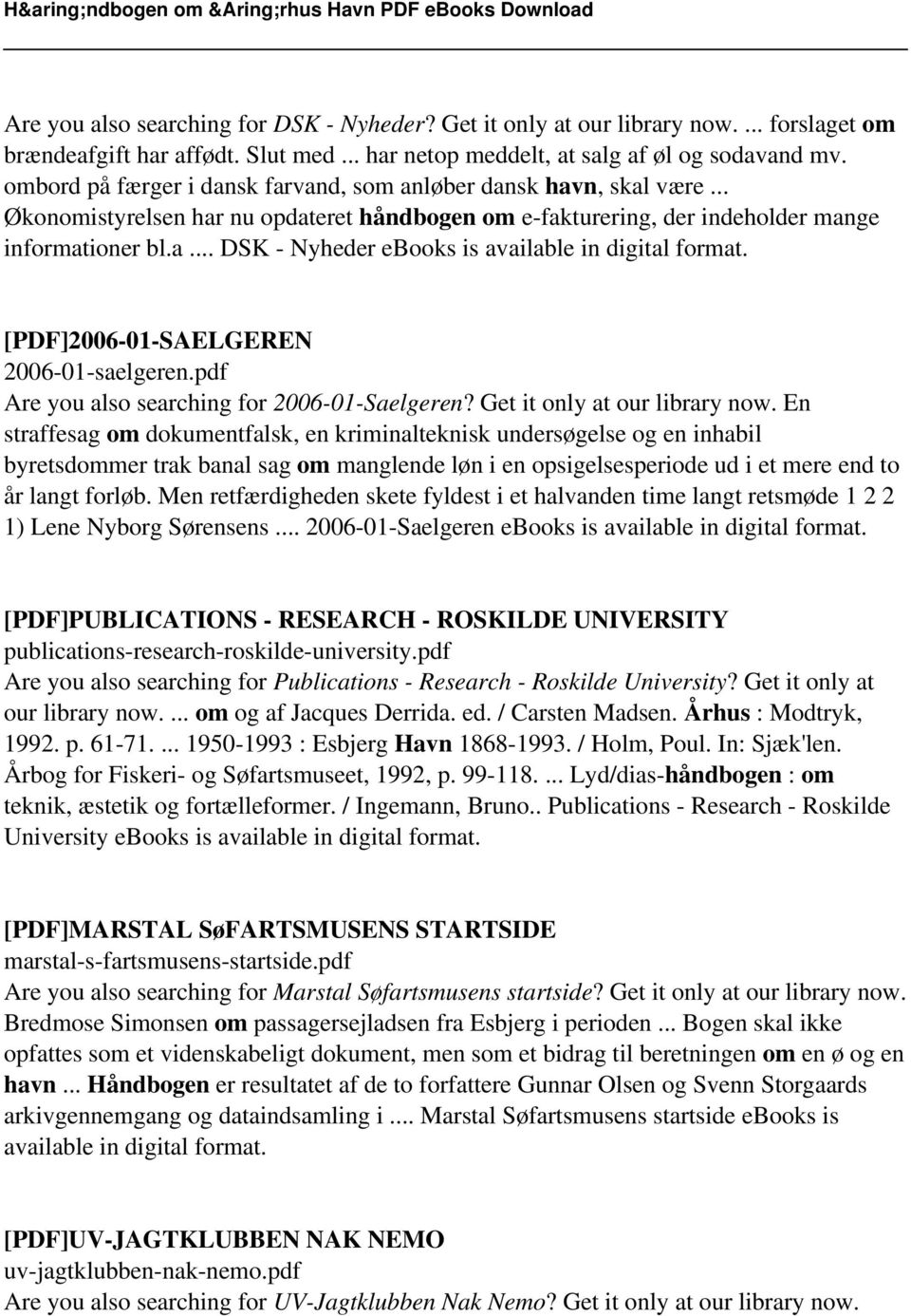 [PDF]2006-01-SAELGEREN 2006-01-saelgeren.pdf Are you also searching for 2006-01-Saelgeren? Get it only at our library now.