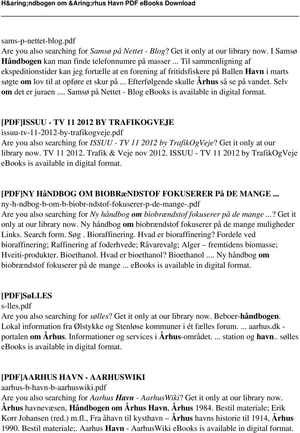 Selv om det er juraen... Samsø på Nettet - Blog ebooks is available in digital format. [PDF]ISSUU - TV 11 2012 BY TRAFIKOGVEJE issuu-tv-11-2012-by-trafikogveje.