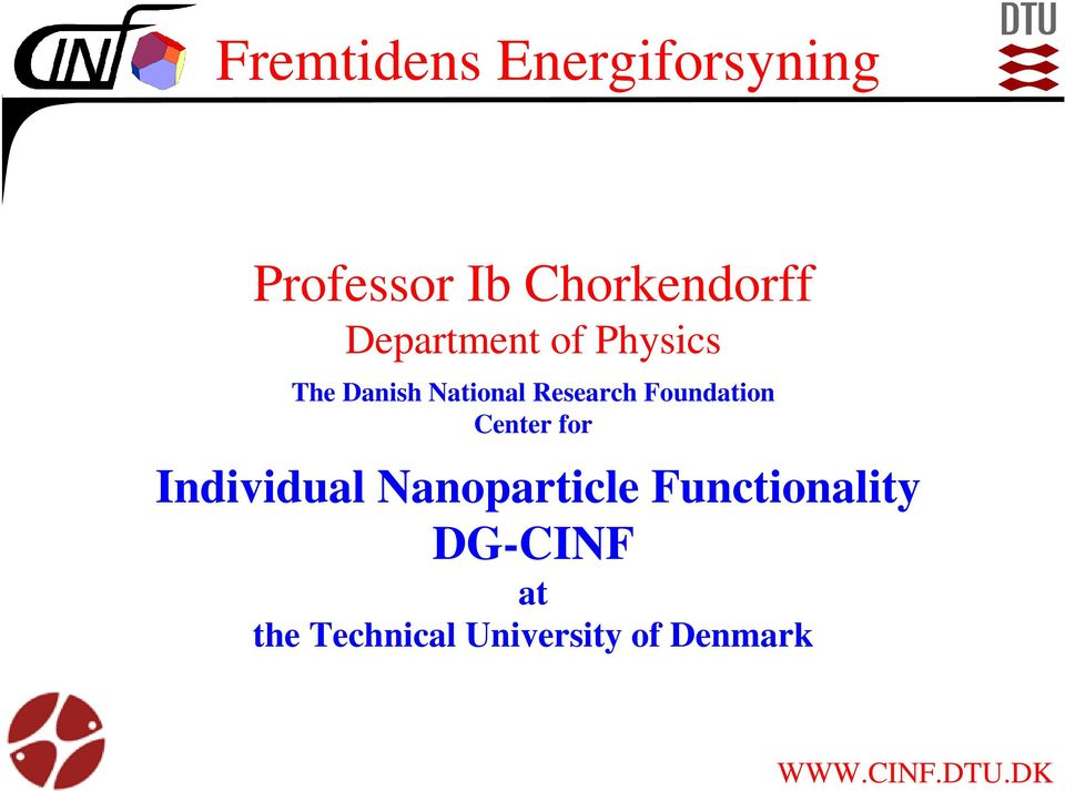 Foundation Center for Individual Nanoparticle