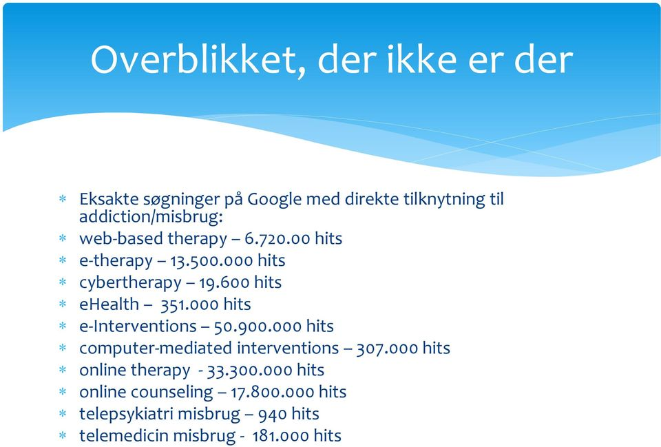 000 hits e-interventions 50.900.000 hits computer-mediated interventions 307.
