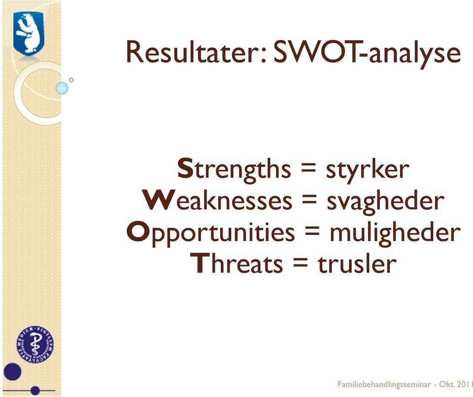 Weaknesses = svagheder