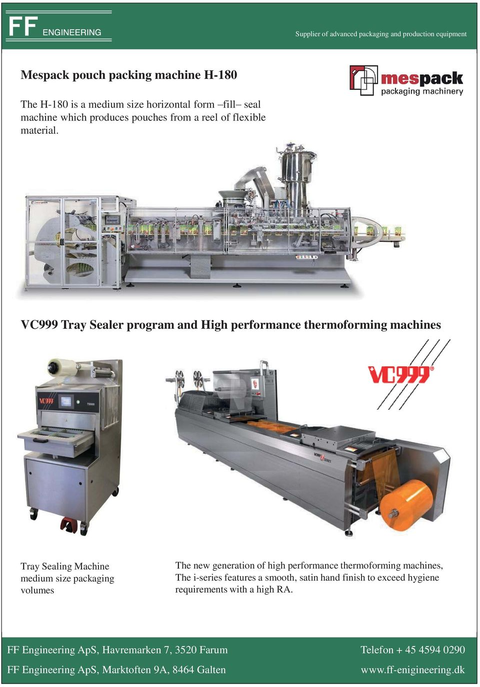 Supplier of advanced packaging and production equipment VC999 Tray Sealer program and High performance thermoforming machines Tray Sealing Machine medium size packaging