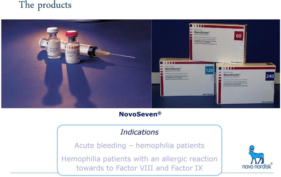 Hemophilia patients with an allergic