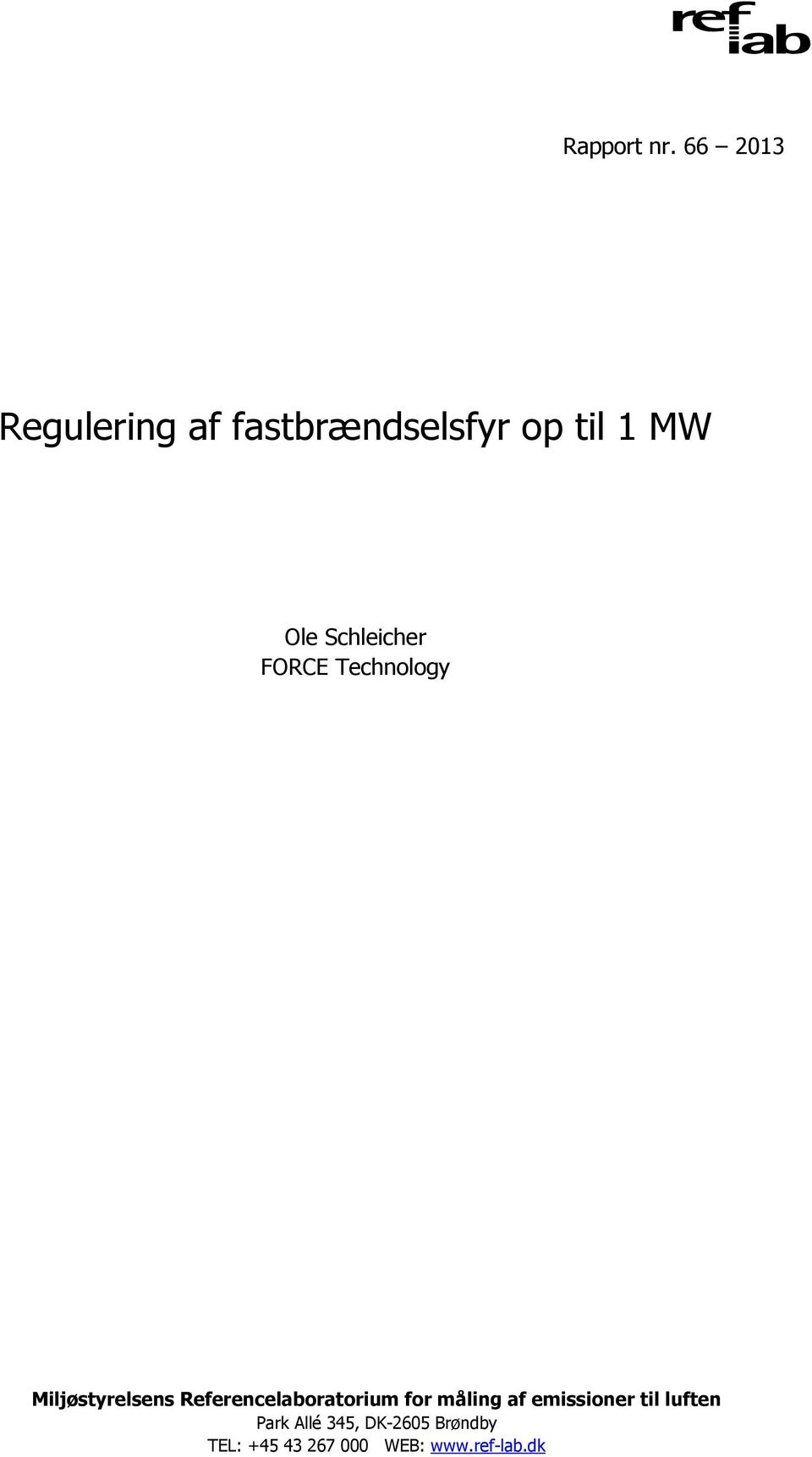 Schleicher FORCE Technology Miljøstyrelsens
