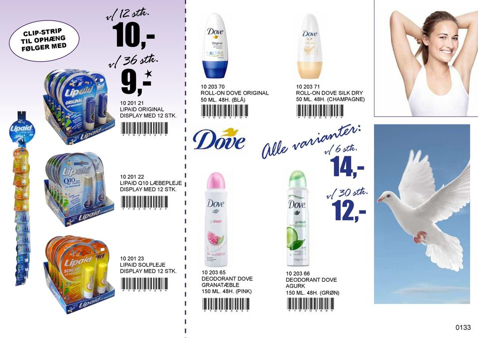 10 203 71 ROLL-ON DOVE SILK DRY 50 ML. 48H. (CHAMPAGNE)!1020371! v/ 6 stk. Alle varianter: v/ 30 stk.