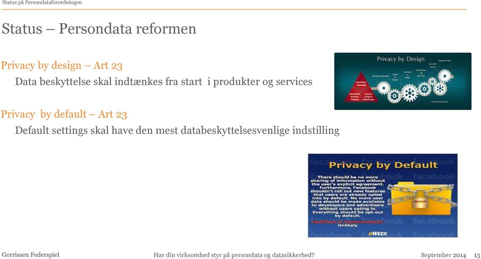 start i produkter og services Privacy by default Art 23