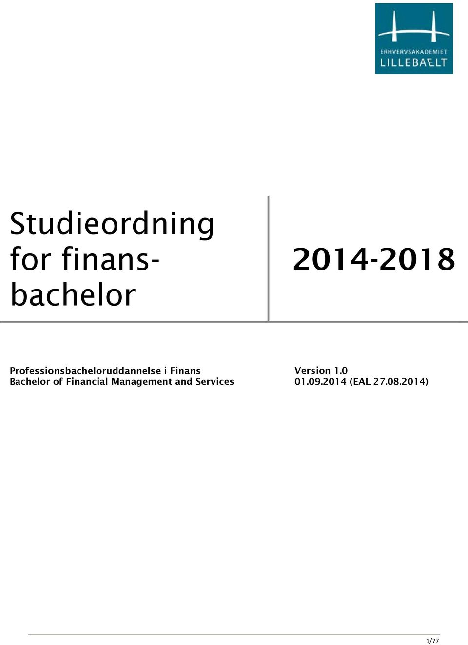Bachelor of Financial Management and
