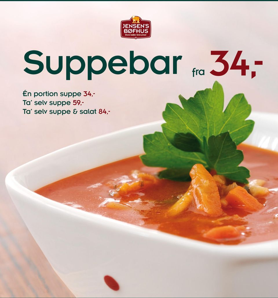 Ta selv suppe 59,-