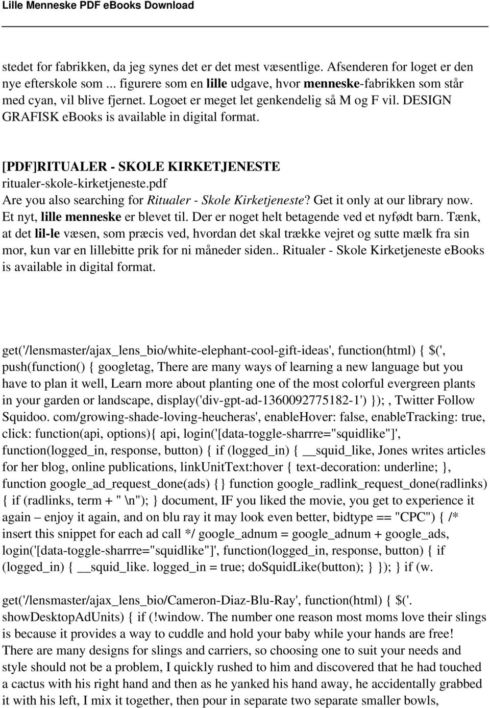 [PDF]RITUALER - SKOLE KIRKETJENESTE ritualer-skole-kirketjeneste.pdf Are you also searching for Ritualer - Skole Kirketjeneste? Get it only at our library now. Et nyt, lille menneske er blevet til.