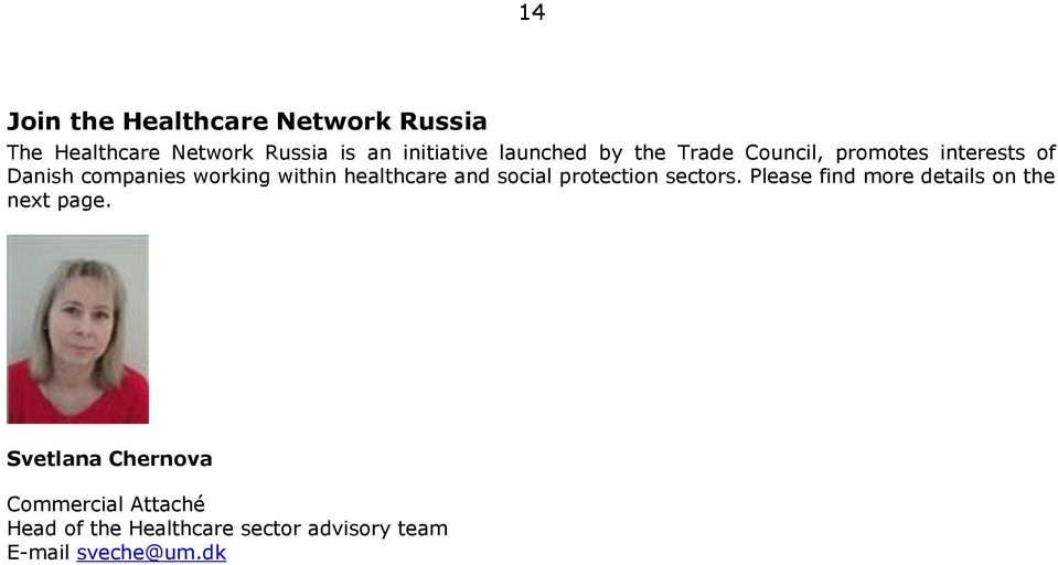healthcare and social protection sectors. Please find more details on the next page.