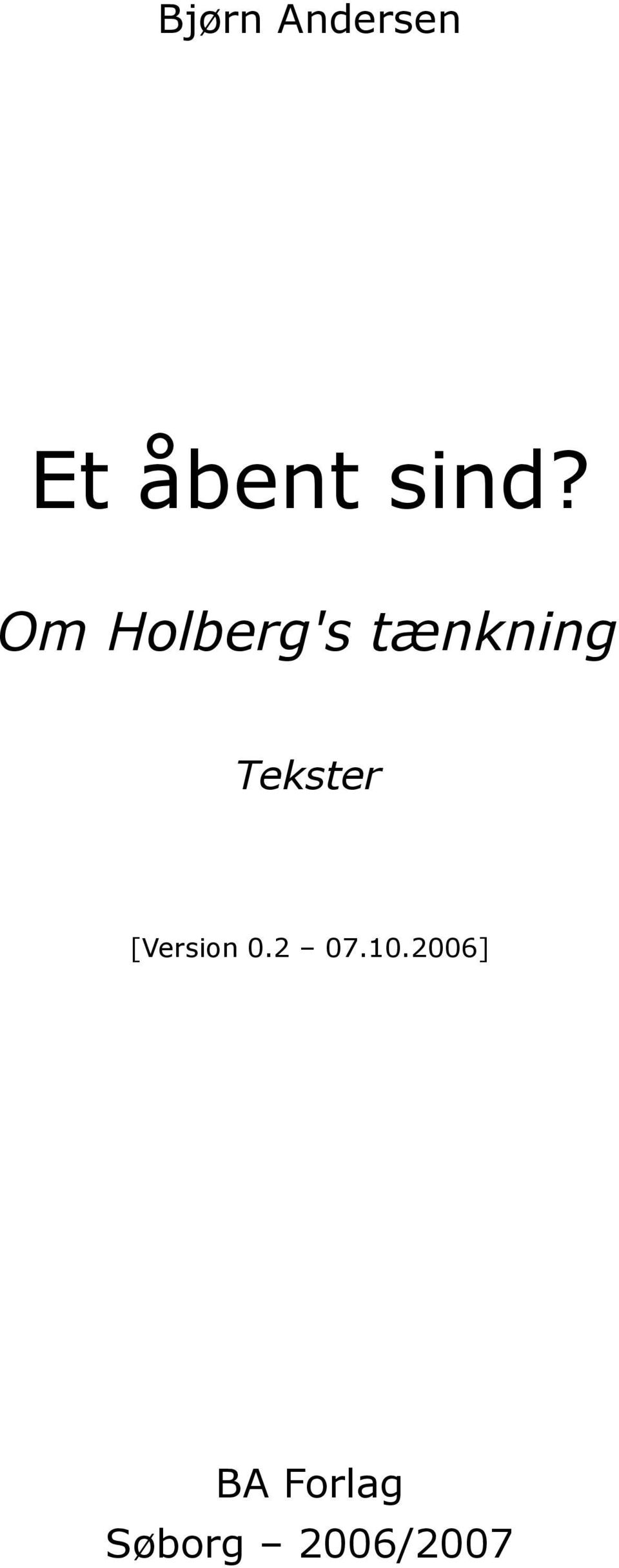 Tekster [Version 0.2 07.