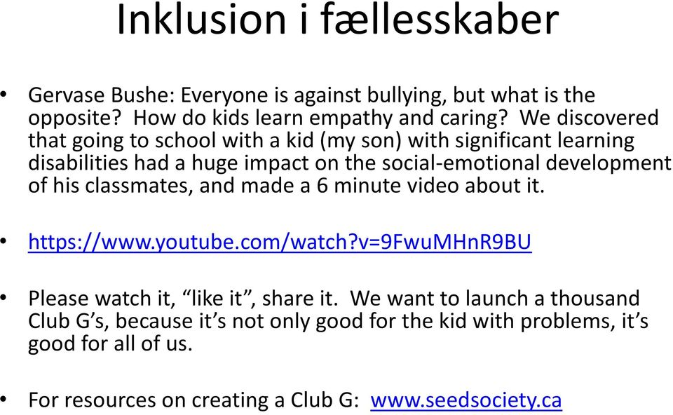 of his classmates, and made a 6 minute video about it. https://www.youtube.com/watch?v=9fwumhnr9bu Please watch it, like it, share it.