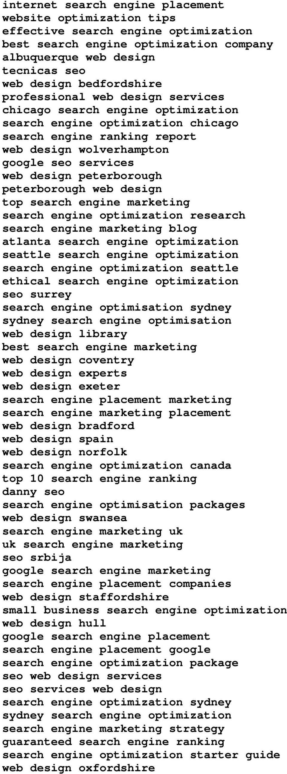 peterborough peterborough web design top search engine marketing search engine optimization research search engine marketing blog atlanta search engine optimization seattle search engine optimization