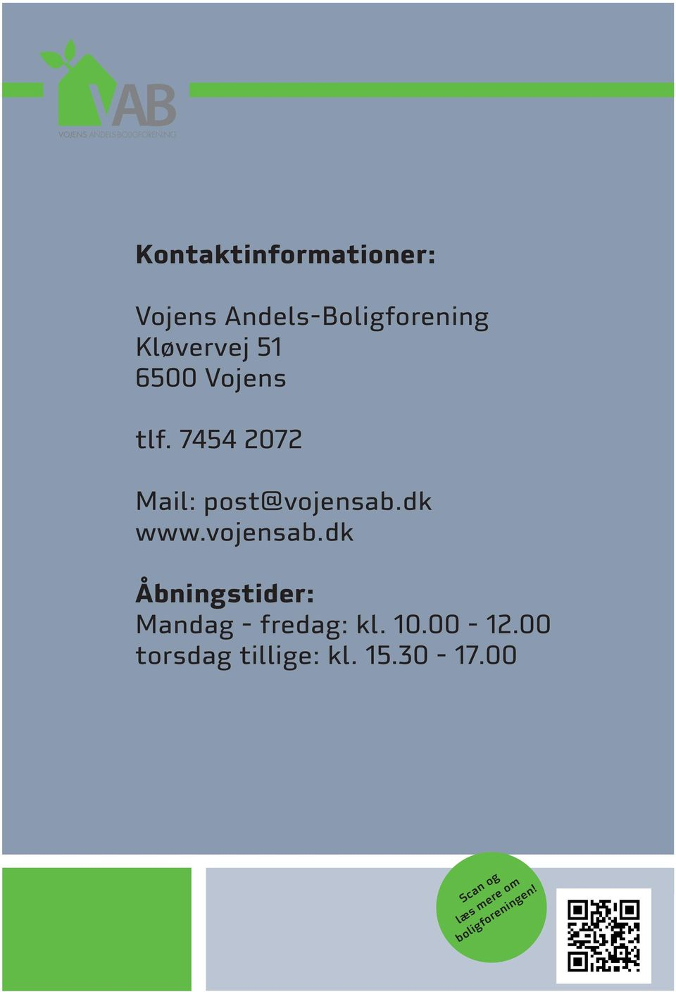 7454 2072 Mail: post@vojensab.