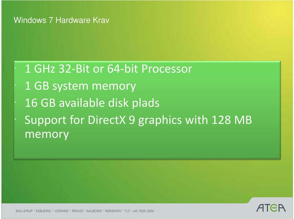 memory 16 GB available disk plads