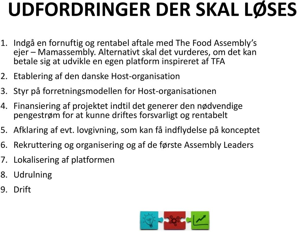 Styr på forretningsmodellen for Host-organisationen 4.