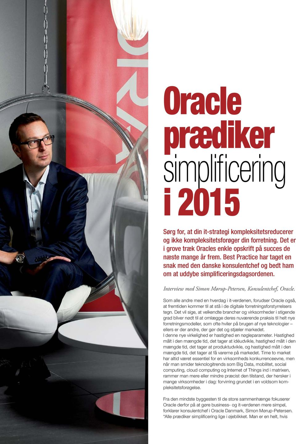 Interview med Simon Mørup-Petersen, Konsulentchef, Oracle.