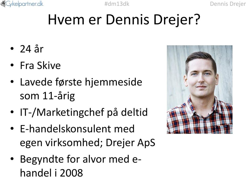 11-årig IT-/Marketingchef på deltid
