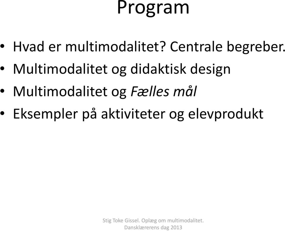 Multimodalitet og didaktisk design