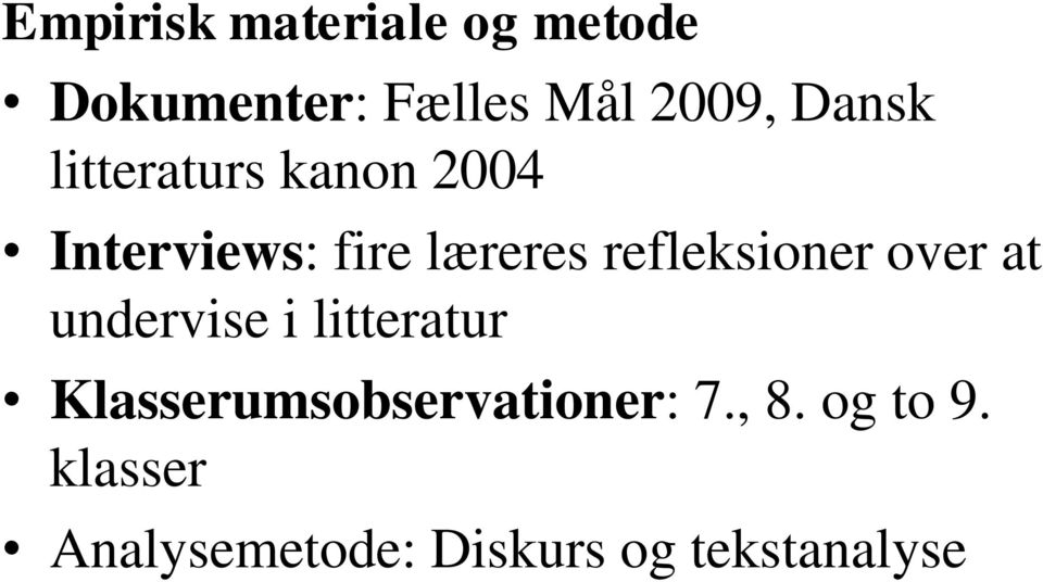 refleksioner over at undervise i litteratur