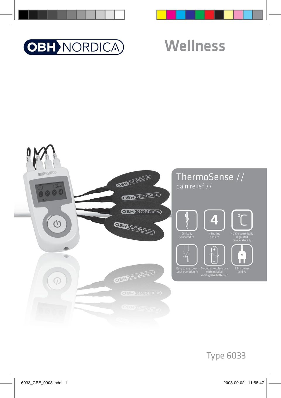 onetouch operation // with included Corded or cordless use rechargeable