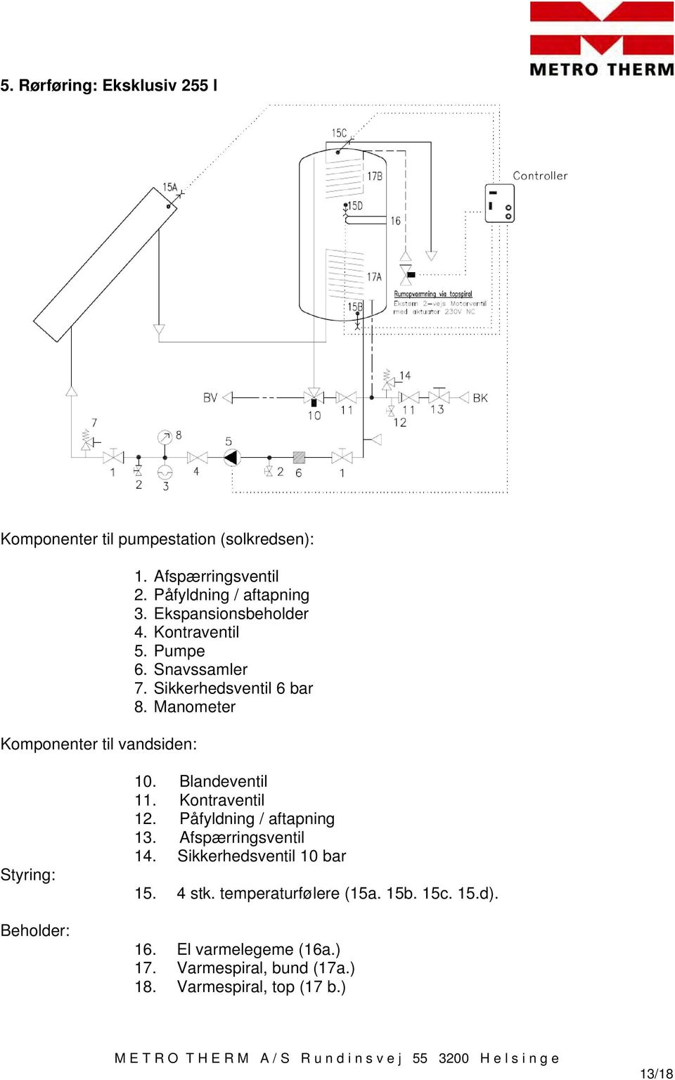 Manual METRO THERM solvarmeanlæg - PDF