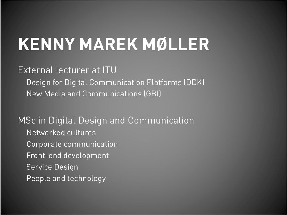 MSc in Digital Design and Communication Networked cultures