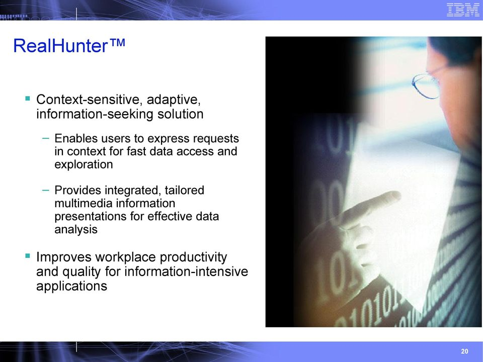 integrated, tailored multimedia information presentations for effective data