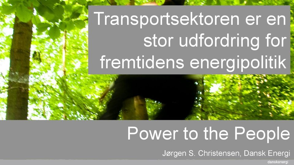 energipolitik Power to the