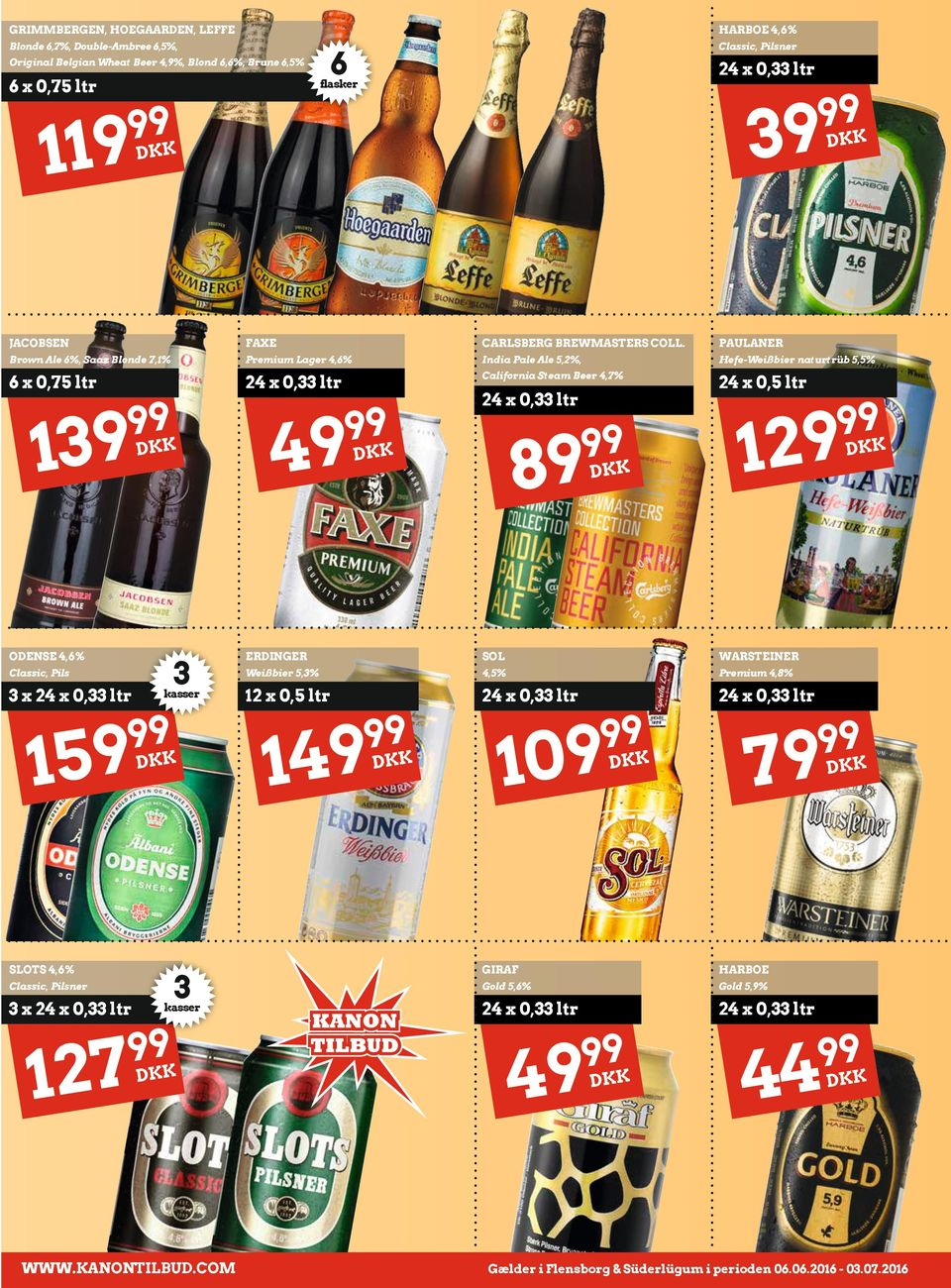 PAULANER Brown Ale 6%, Saaz Blonde 7,1% Premium Lager 4,6% India Pale Ale 5,2%, Hefe-Weißbier naturtrüb 5,5% 6 x California Steam Beer 4,7% 24