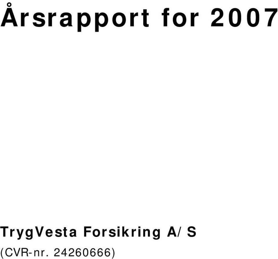 Forsikring A/S