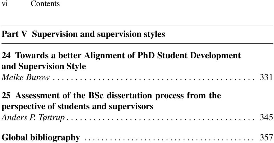 .. 331 25 Assessment of the BSc dissertation process from the perspective