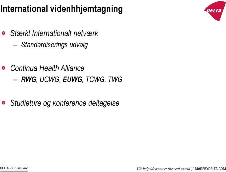 udvalg Continua Health Alliance RWG, UCWG,