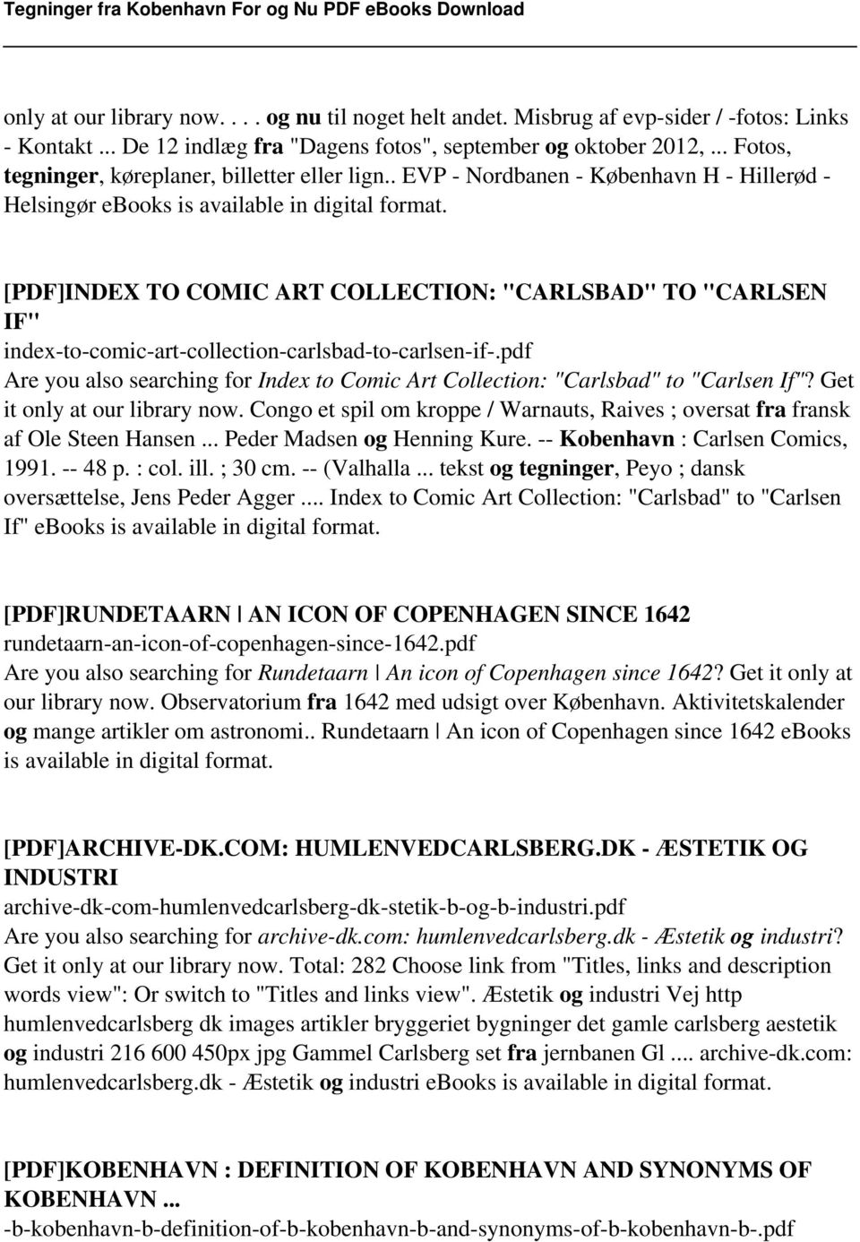 "[PDF]INDEX TO COMIC ART COLLECTION: ""CARLSBAD"" TO ""CARLSEN IF"" index-to-comic-art-collection-carlsbad-to-carlsen-if-."