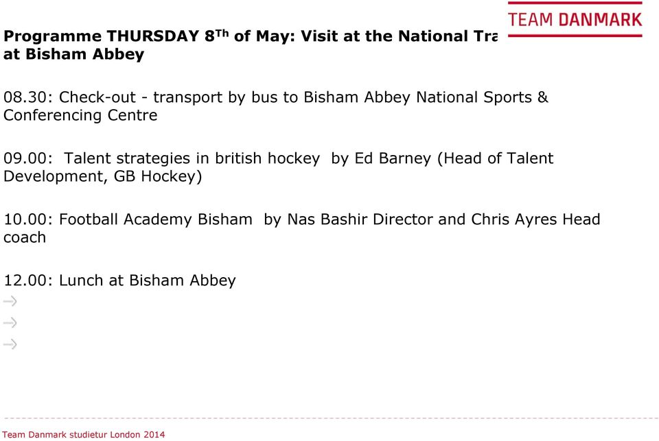 : Talent strategies in british hockey by Ed Barney (Head of Talent Development, GB Hockey) 1.