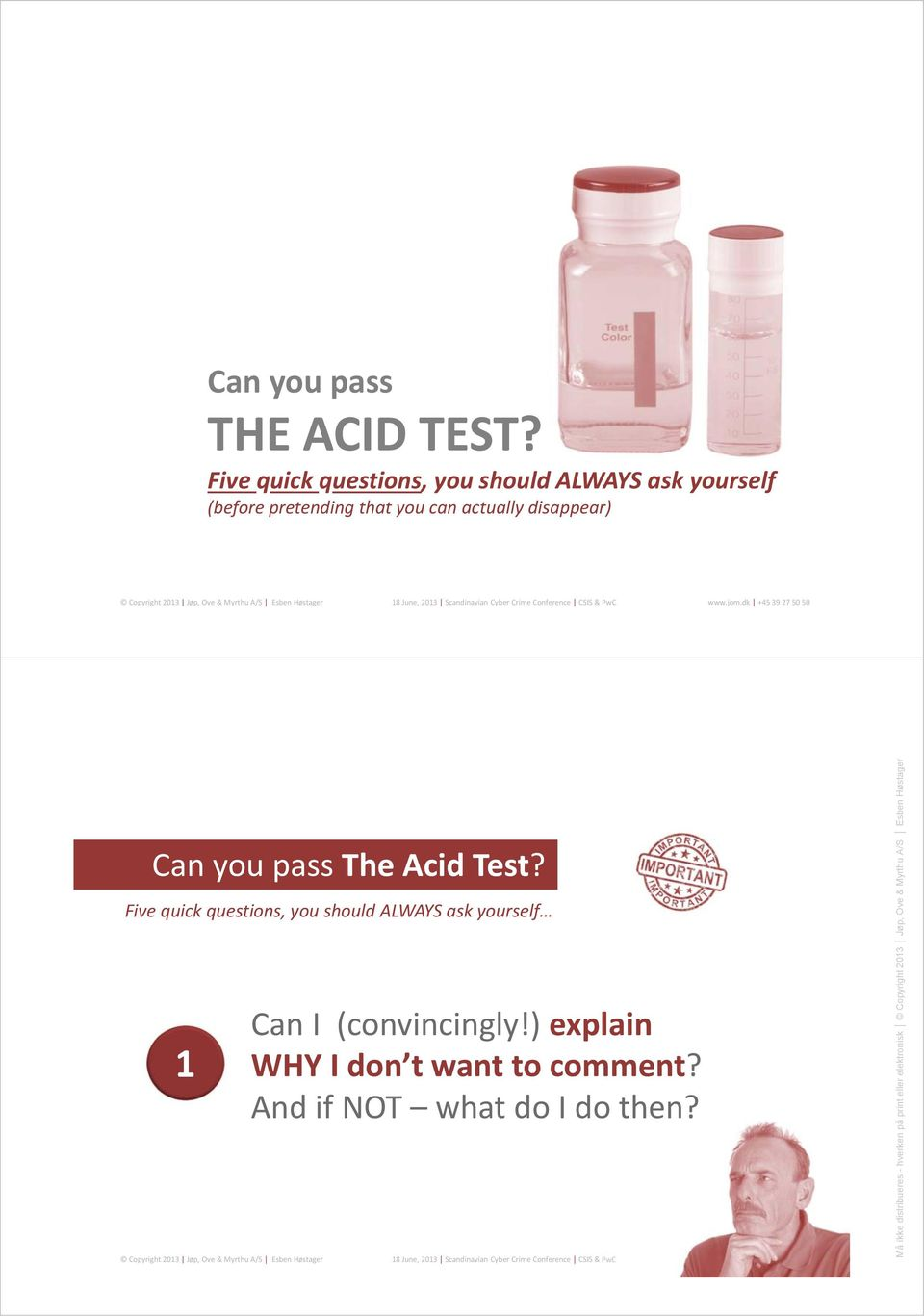 that you can actually disappear) Can you pass The Acid Test?