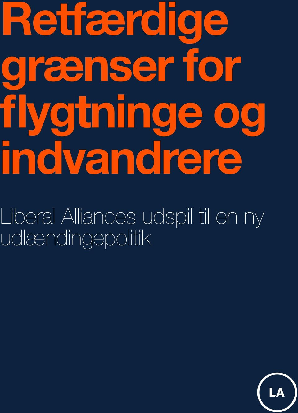 Liberal Alliances udspil