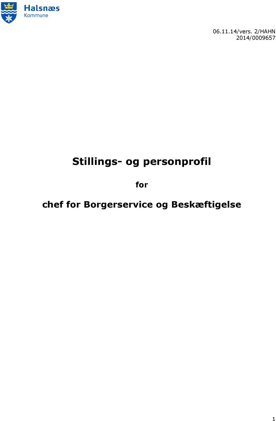 Stillings- og personprofil