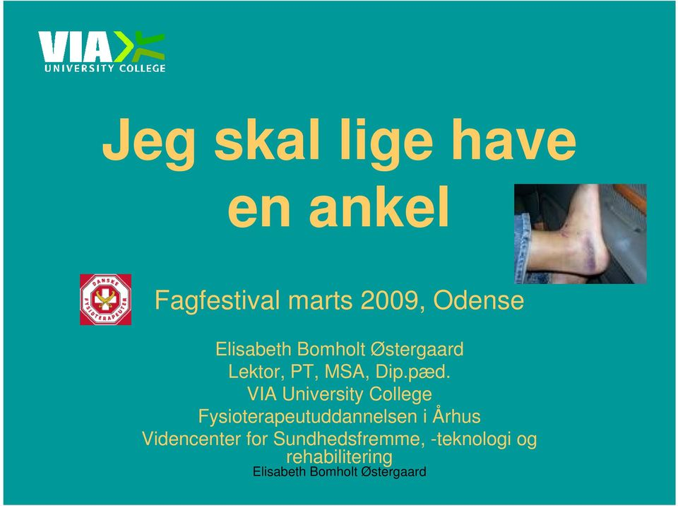 VIA University College Fysioterapeutuddannelsen i