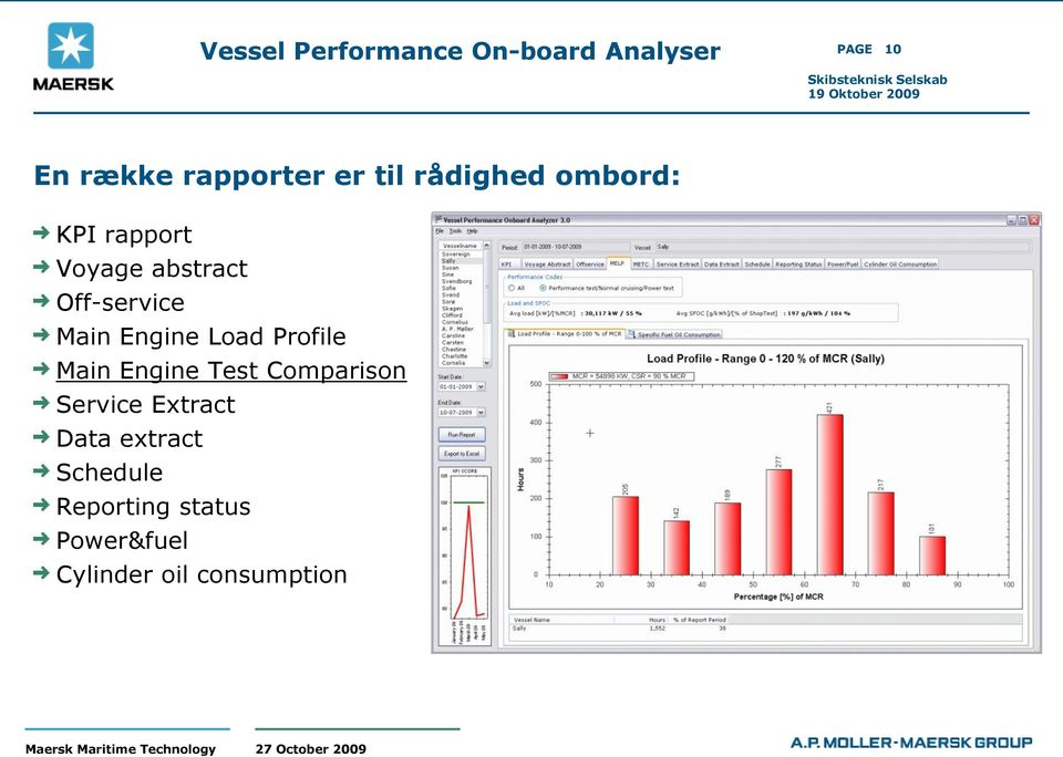 Engine Load Profile Main Engine Test Comparison Service Extract
