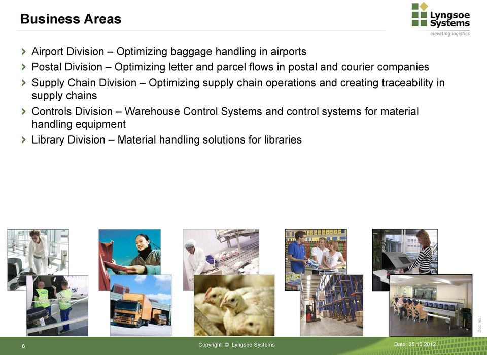 creating traceability in supply chains Controls Division Warehouse Control Systems and control systems for