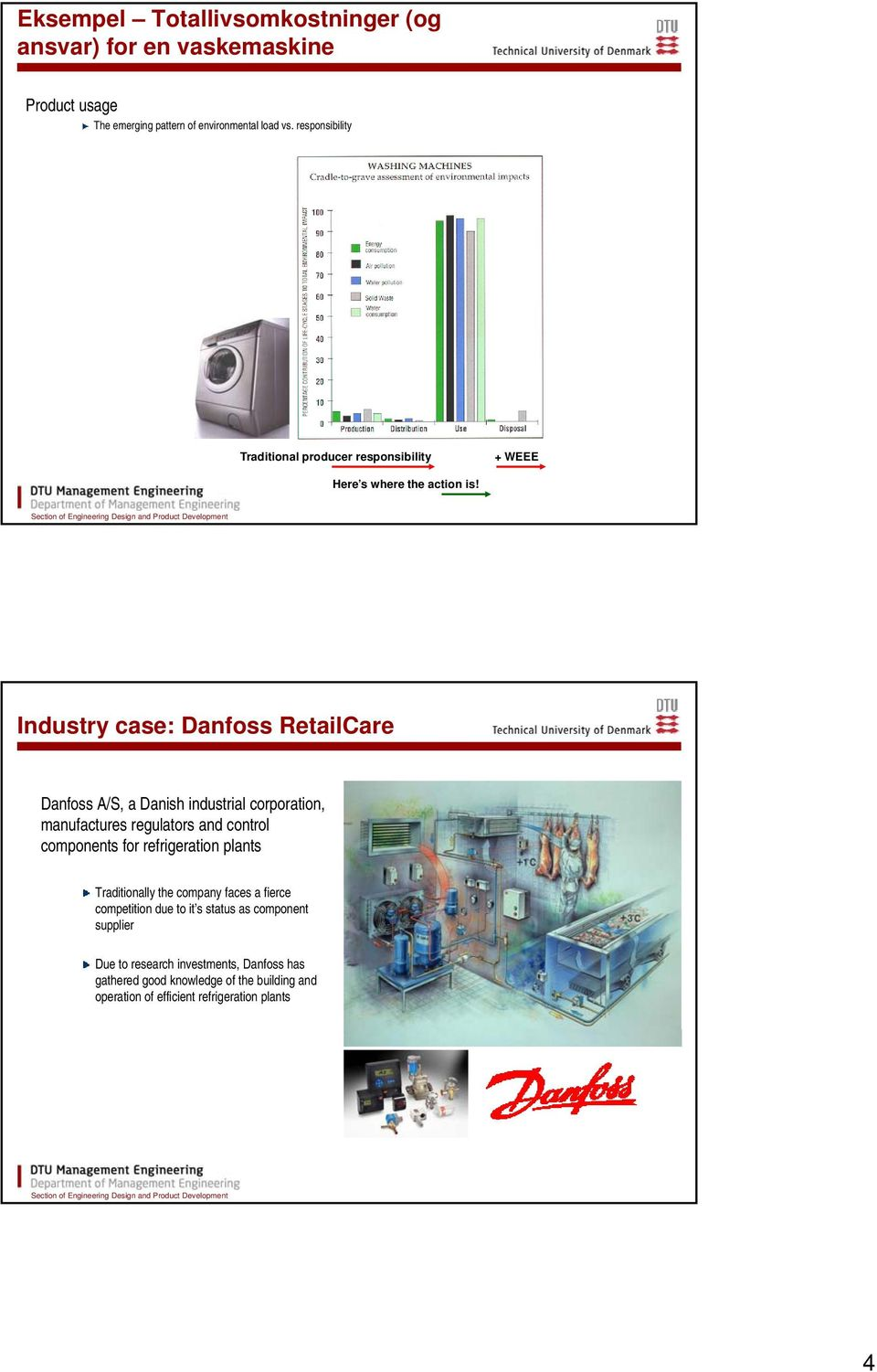 Industry case: Danfoss RetailCare Danfoss A/S, a Danish industrial corporation, manufactures regulators and control components for refrigeration