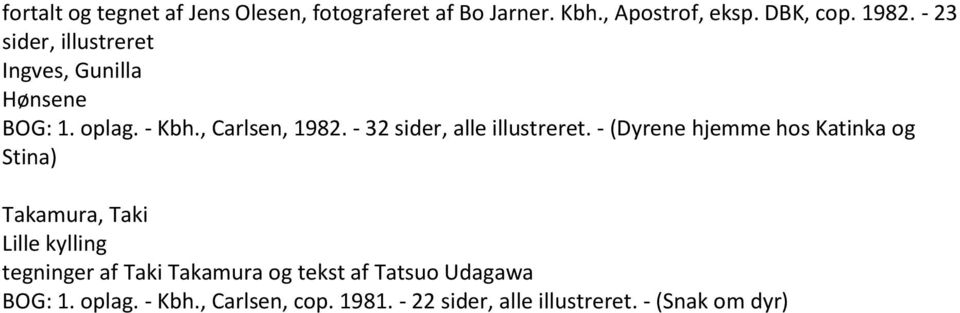 - 32 sider, alle illustreret.