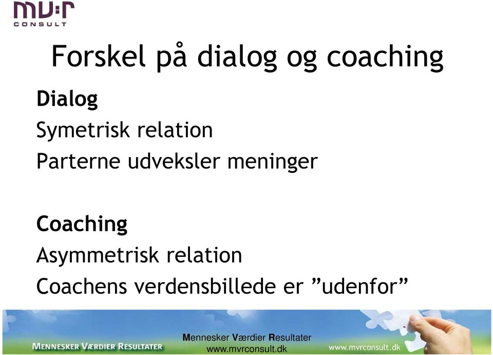 meninger Coaching Asymmetrisk relation