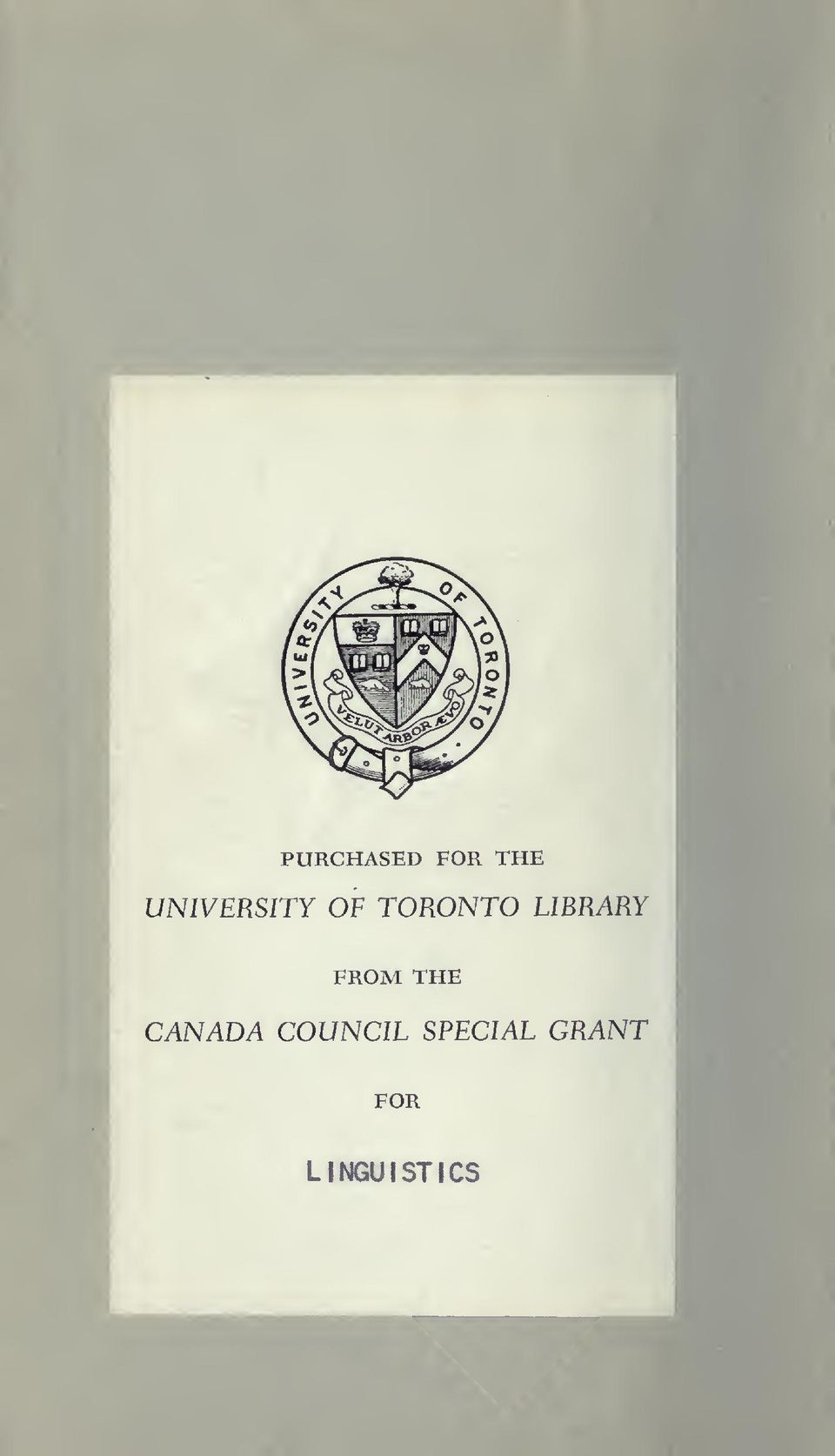 LIBRARY FROM THE CANADA