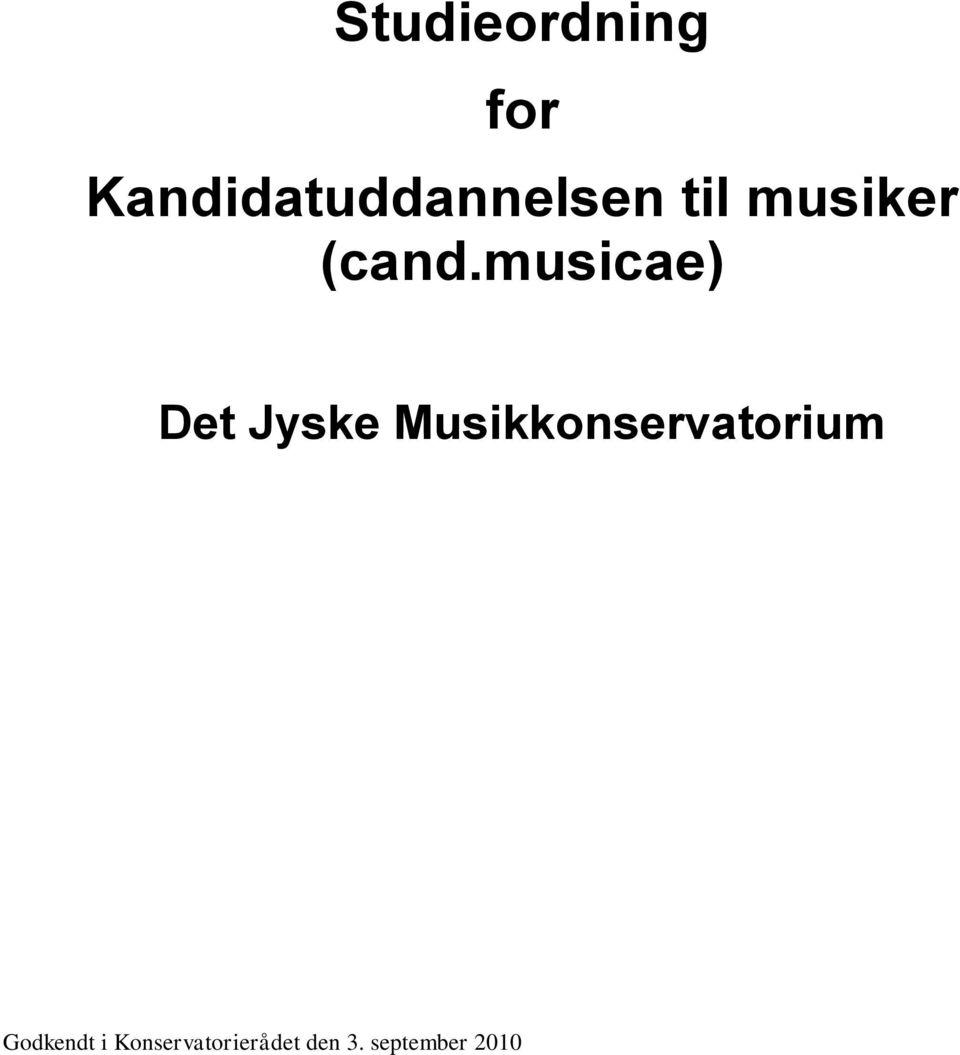 musiker (cand.