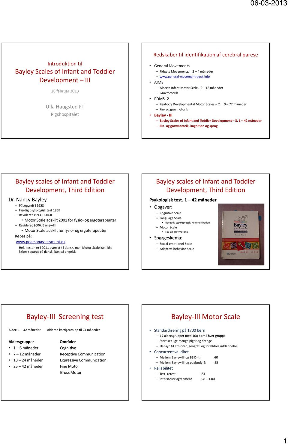 bayley scales of infant development manual